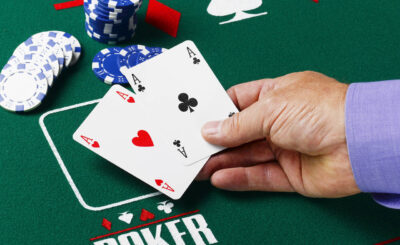 Texas Hold Em poker player